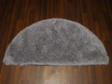 HALF MOON SHAGGY RUGS 60CMX120CM WOVEN GOOD QUALITY NEW SUPER THICK SILVER/GREY
